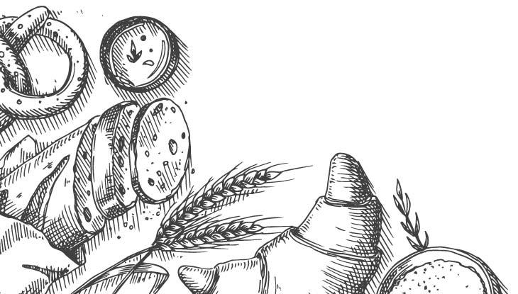 Croissant Zeichnung - Bäckerei Bielemeier in Höxter, Holzminden und Paderborn